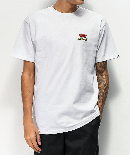 Vans x Santa Cruz Wall Grab White T-Shirt