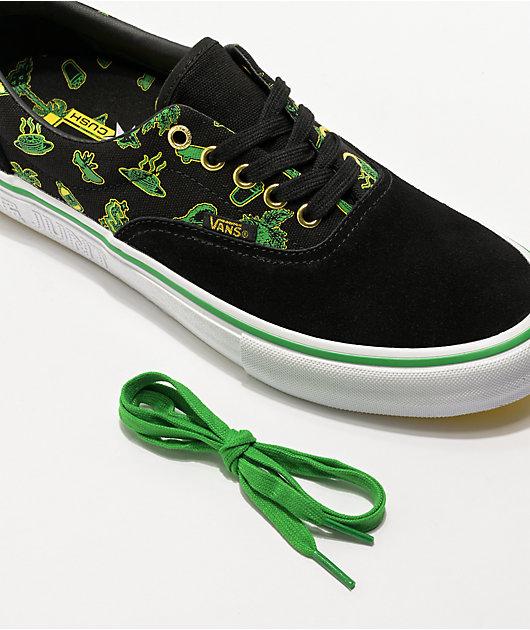 Vans x Shake Junt Era Pro Black, Green & White Skate Shoes