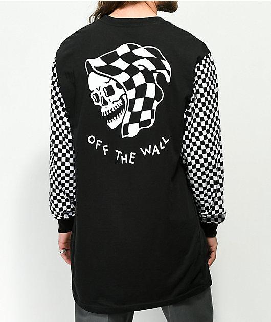 Vans x Sketchy Tank camiseta de manga larga a cuadros en negro y blanco