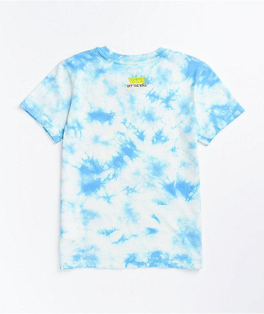 Vans x SponeBob SquarePants Jump Out Blue Tie Dye T-Shirt