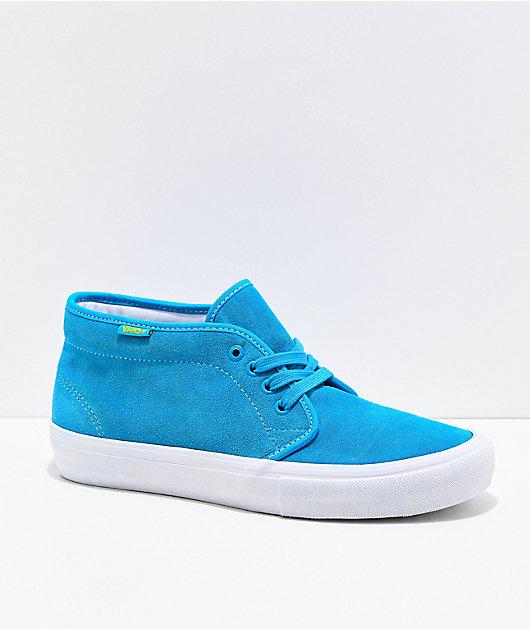 Vans x The Simpsons Chukka Mid Pro Blue & White Skate Shoes