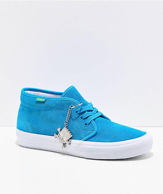 Vans X The Simpsons Chukka Mid Pro Blue White Skate Shoes Zumiez
