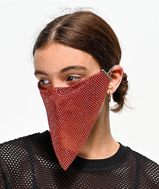 Vida Kush Kunoichi Sangre mascara roja de cristales