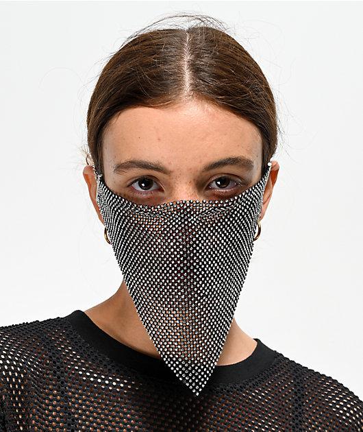 Vida Kush Kunoichi mascara negra de cristales