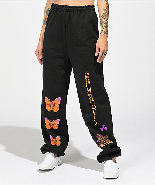 Vitriol Butterfly Black Sweatpants