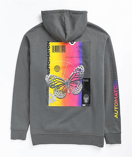 Vitriol Jamison Butterfly Grey Hoodie