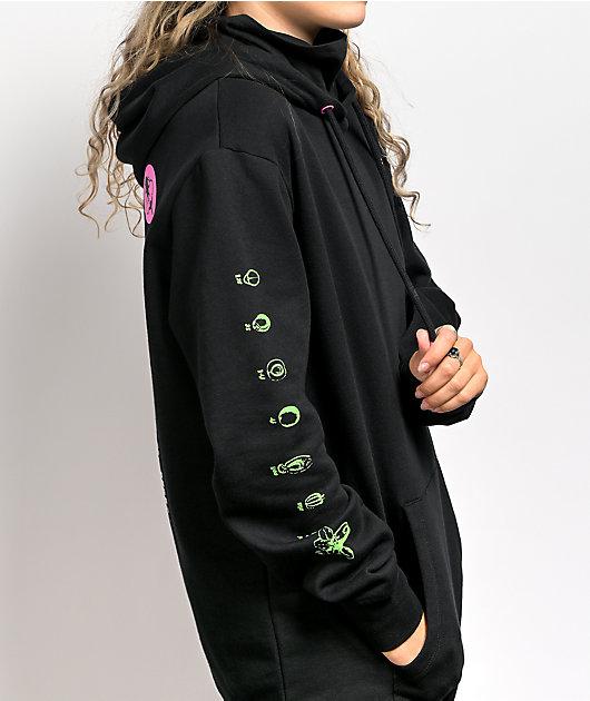 Vitriol Jamison Photosynthesis Black Oversized Hoodie