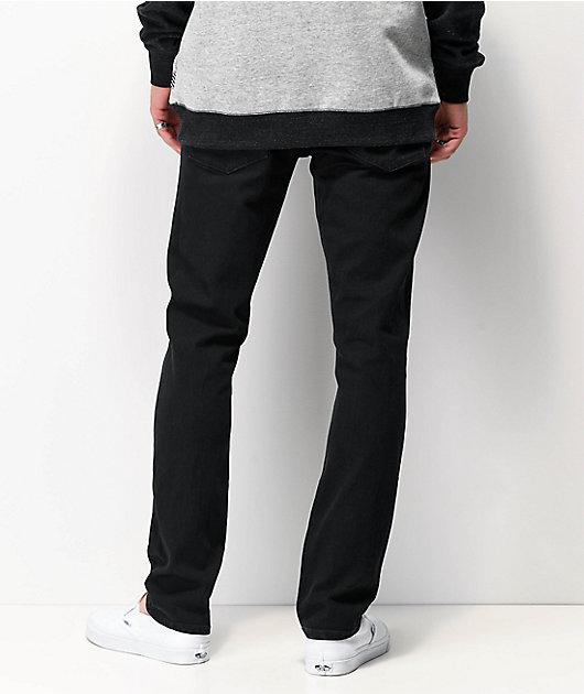 Volcom 2x4 Black Denim Skinny Jeans