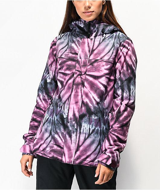 Volcom Bolt Purple Tie Dye 10K Snowboard Jacket
