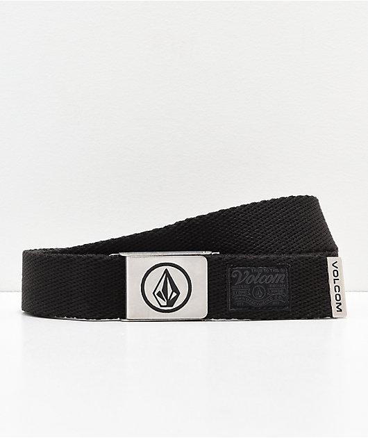 Volcom Circle cinturón tejido negro