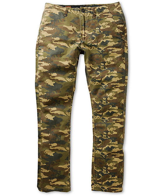 Volcom Faceted Camo Skinny Fit Chino Pants Zumiez