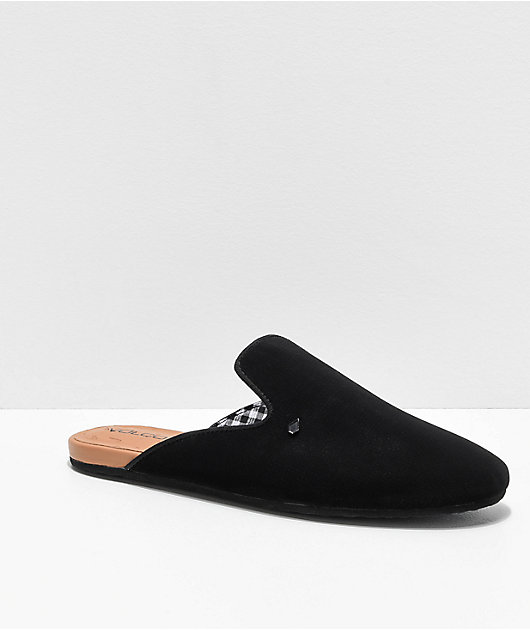Volcom Gamble Black \u0026 Tan Mule Shoes