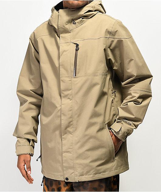 Volcom L Teak Khaki Gore-Tex Snowboard Jacket