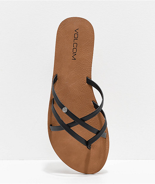 Volcom New School sandalias negras