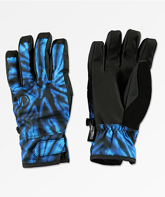 Volcom Nyle Blue Tie Dye Snowboard Gloves
