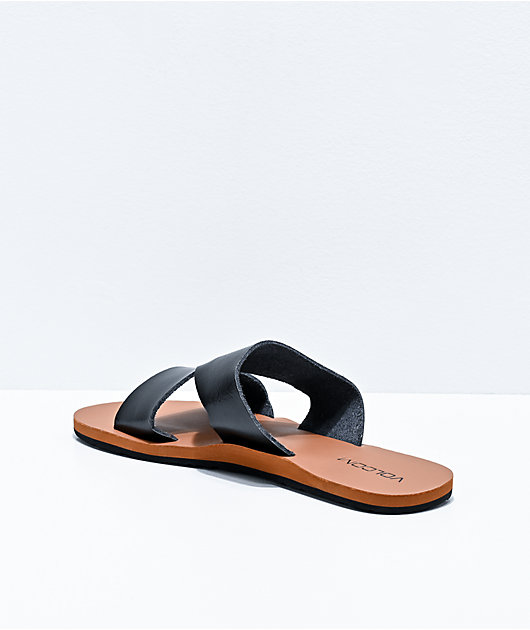 Volcom Seeing Stones Black Slide Sandals