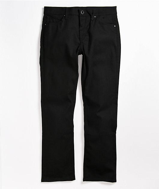 Volcom Solver Black Denim Jeans Zumiez