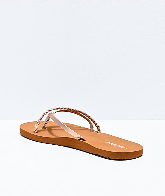 Volcom Thrills II Rose Gold Thong Sandals