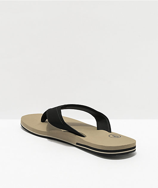 Volcom Victor Khaki & Black Sandals