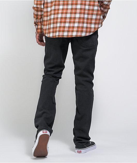 Volcom Vorta Slim Fit Black Denim Jeans
