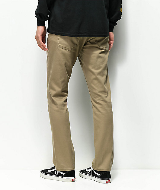 Volcom Vorta Pantalones De Mezclilla Caqui Zumiez