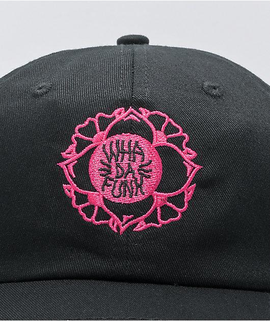 WHADAFUNK Flower Funk Black Strapback Hat