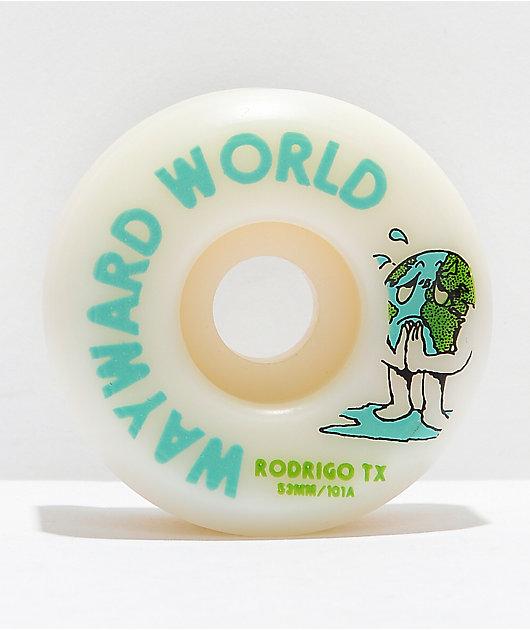 Wayward Rodrigo TX 53mm 101a White Skateboard Wheels