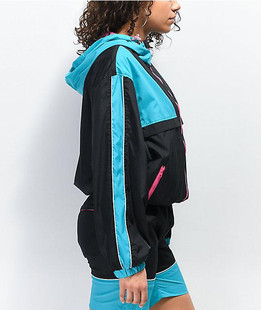 WeSC Athletic Black & Teal Windbreaker Jacket
