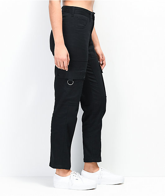 WeSC Cropped Utility Black Pants