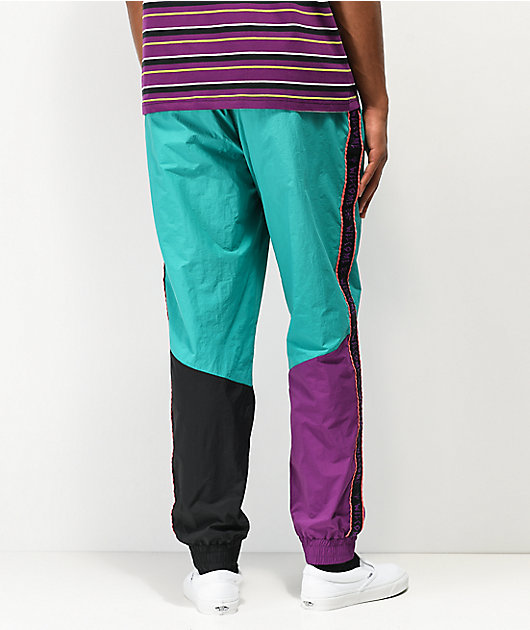 Welcome Athlete Teal & Purple Colorblock Track Pants