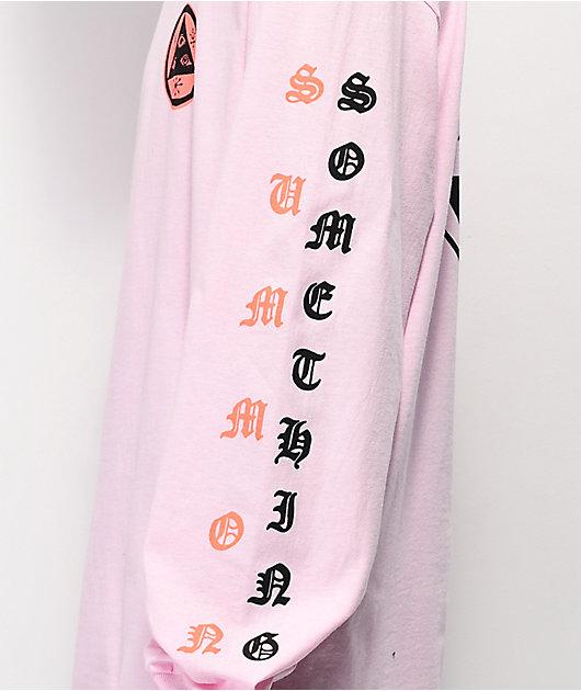 Welcome Beckon Pink Long Sleeve T-Shirt
