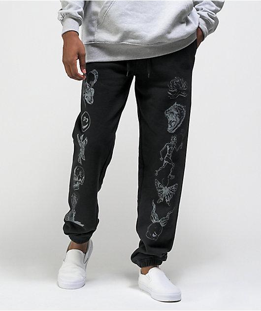 Welcome Emblem Black Sweatpants