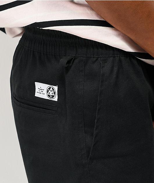 Welcome Glam Dragon Black Elastic Waist Pants