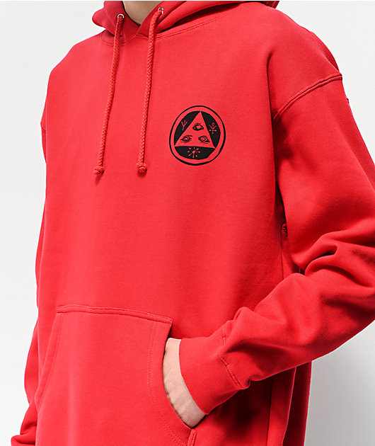 Welcome Maned Woof Red Hoodie