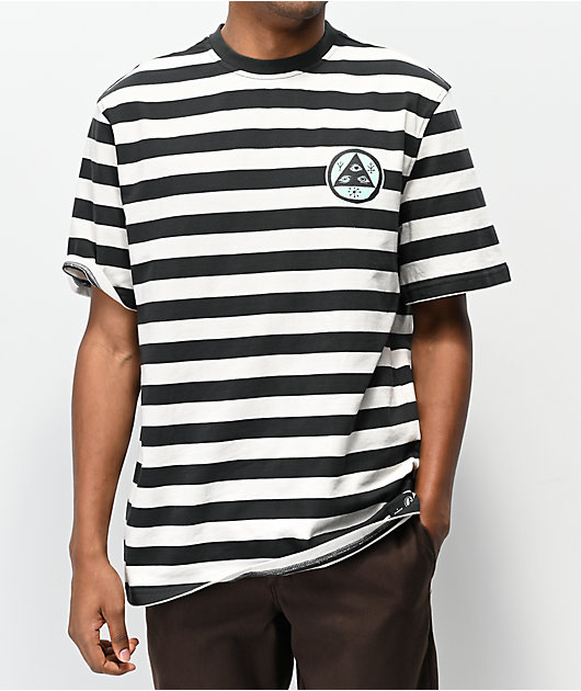Welcome Maned Woof camiseta blanca y negra de rayas