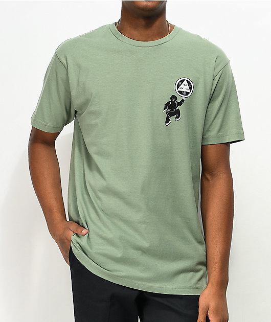 Welcome Peep This camiseta verde salvia