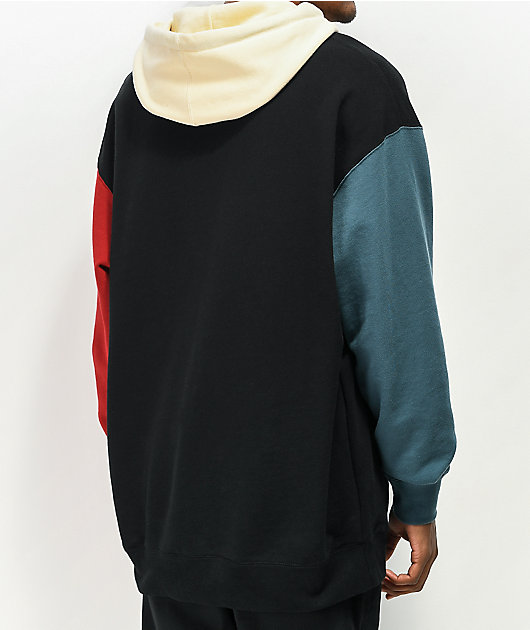 Welcome Quadrant Black, Blue & Red Hoodie