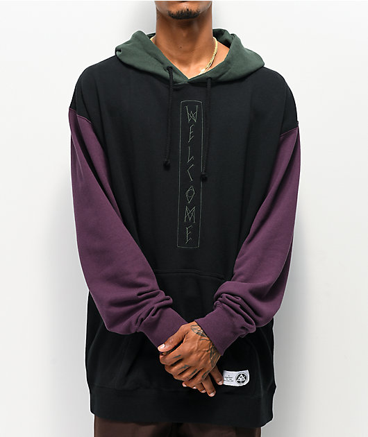 Welcome Quadrant Black & Purple Hoodie