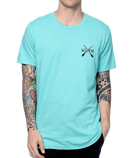 Welcome Skateboards Broomstick Teal T-Shirt