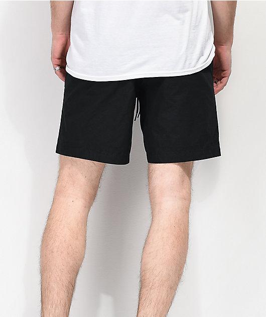 Welcome Soft Core Black Elastic Waist Shorts