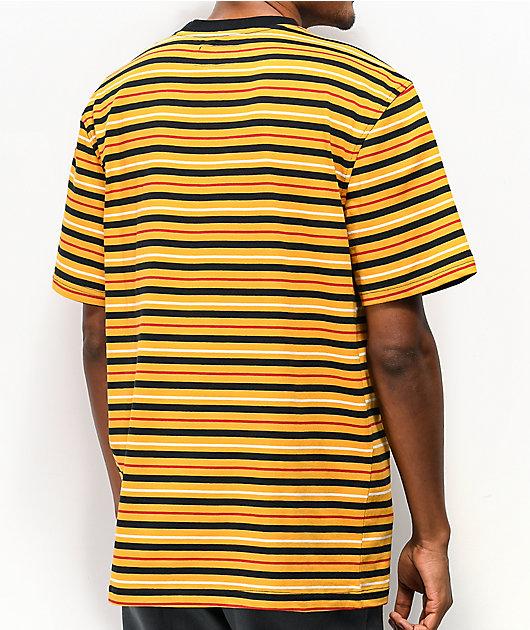Welcome Surf camiseta dorada y negra de rayas