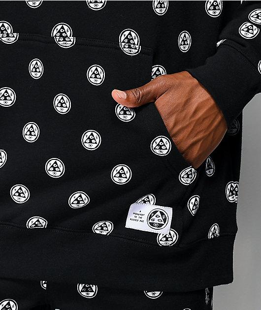 Welcome Tali-Dot Allover sudadera con capucha negra