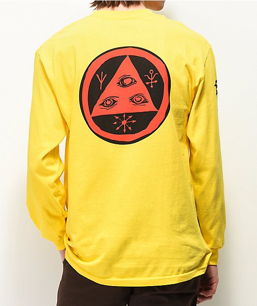 Welcome Tali-Scrawl Yellow Long Sleeve T-Shirt