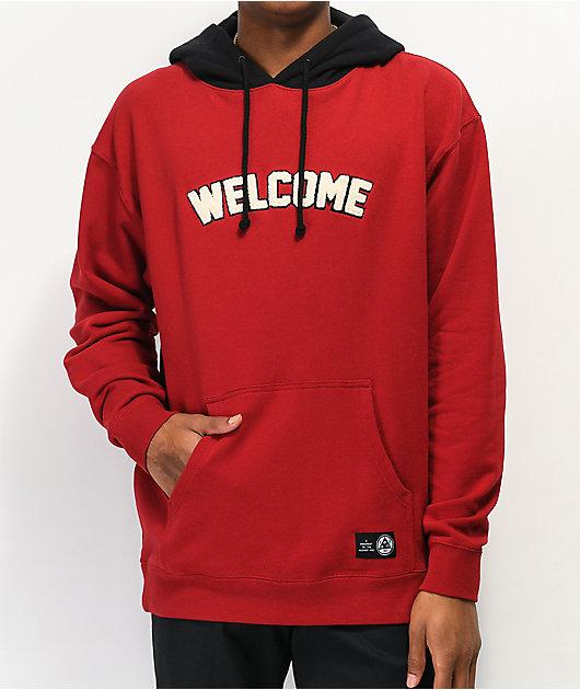 Welcome Veil 2 Red & Black Hoodie