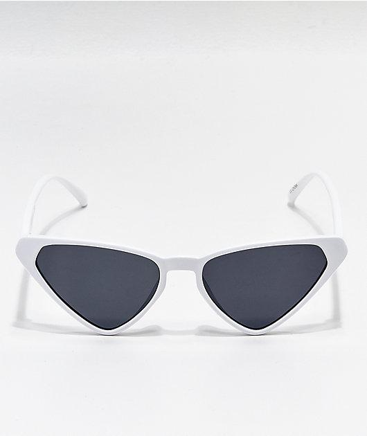 White & Black Cateye Sunglasses