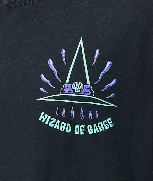 Wizard of Barge Castin' Spells Black T-Shirt