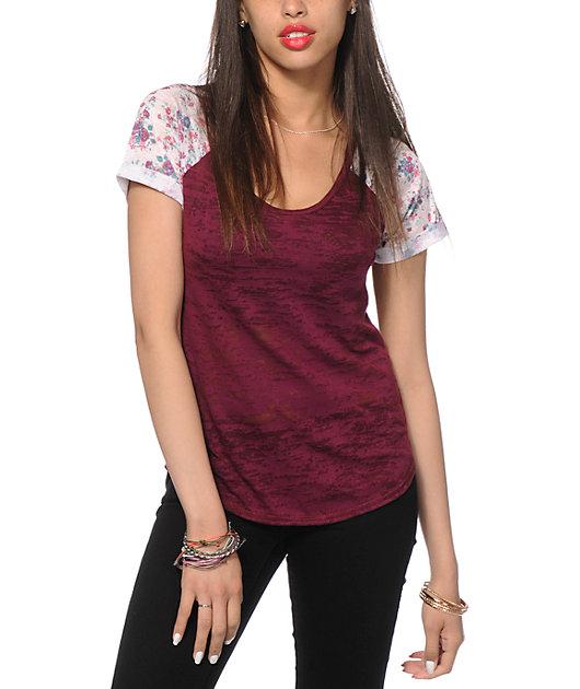 Workshop Floral Sleeve T-Shirt