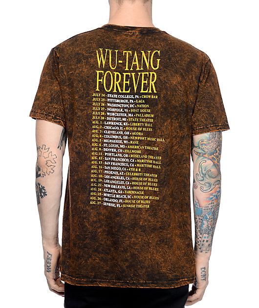 Wu-Tang Forever Tour Black Acid Wash T-Shirt