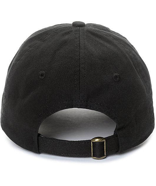 YRN Culture Black Strapback Hat