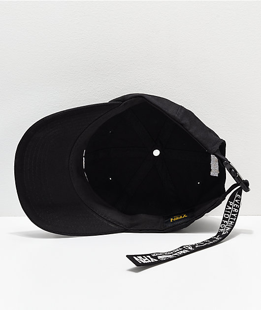 YRN Made For This Black Strapback Hat